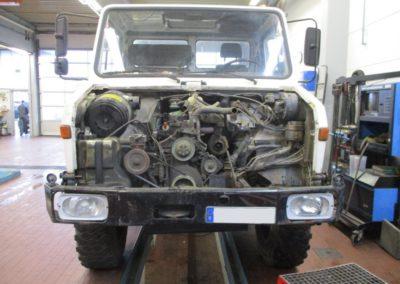 Mercedes-Unimog-Motorinstandsetzung