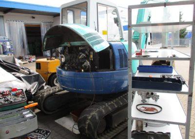 Reparatur Baggermotor