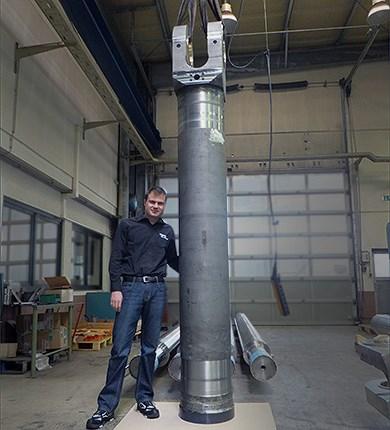 Zylinderrohr ø 500 ø 400 x 3800 mm