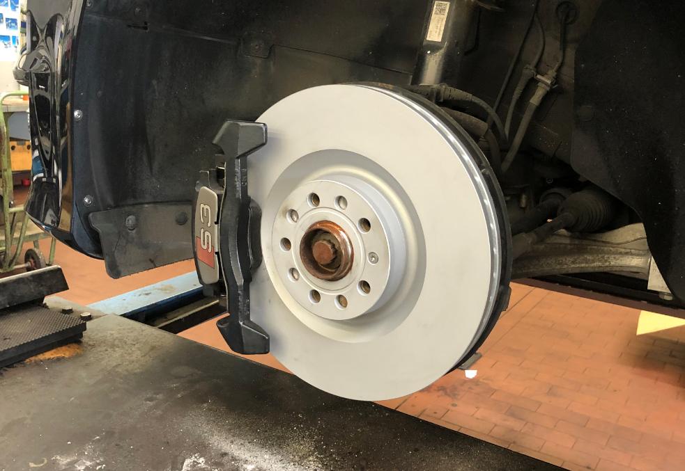 neue Bremsscheibe Aluminium